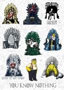 """Набор виниловых стикеров №6 """"Игра Престолов"""" (Game Of Thrones)"""
