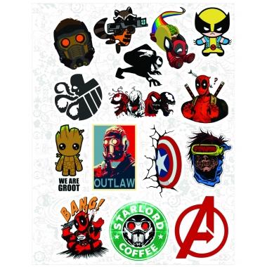 """Набор виниловых стикеров №38 """"Marvel"""" (360)"""